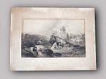Antique Dutch Landscape Print The Wayfarers By Topham