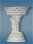 Antique Minton Victorian Porcelain Fruit Basket Compote