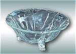 Vintage Clear Crystal Heisey Glass Queen Ann Footed Serving Bowl