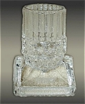 Antique Pattern Glass Toothpick Holder Ca. 1870
