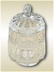 Antique Imperial No 1 Clear Crystal Glass Three In One Pattern Biscuit Jar