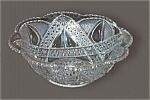 Higbee Federal Glass Anona Twin Teardrops Pattern Glass Berry Bowl
