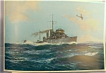 Early Calendar Art Battle Ship Print