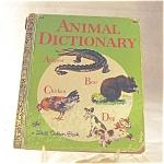 Little Golden Book- Animal Dictonary