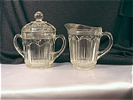 Colonial Knife And Fork Cream & Sugar Set