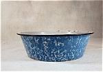 Blue Swirl Graniteware Dish