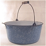 Graniteware Blue And White Dish Pan