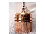 Vintageart Deco Brass /fringe Hanging Lamp