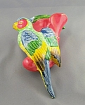 Occupied Japan Parrot Wall Pocket Hanging