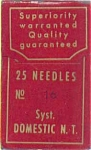 Domestic Notch Top Sewing Machine Needles Size 16 (Six - 12152)