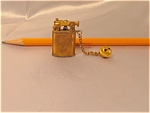 Miniature Brass Lighter With Chain
