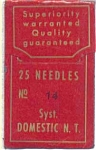 Domestic Notch Top Sewing Machine Needles Size 14 (Six - 12153)