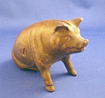 Cast Iron Sitting Pig Bank
