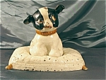 Hubley Cast Iron Dog On Pillow Still Bank