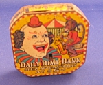 Tin Litho Clown Dime Bank