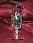 Elegant Cut Glass Water Glass