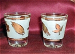 Libbey Golden Foliage Shot Glasses