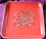 Red Maxey Peacock Serving Trays