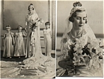 30s Real Photo Post Cards Danish Royal Weddin