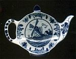 Delft Teapot Shaped Teabag Holder