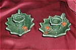 Lefton Holly Berry Candle Holders & Salt And
