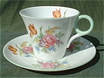 Shelley Regent Davies Tulip Cup And Saucer