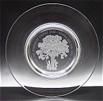 Sparkling Orrefors Ltd Edition Crystal Liberty Tree Plate C 1976