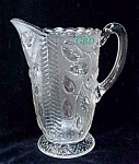 Antique Stippled Cherry Water Pitcher C 1880's