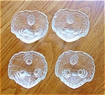 Fostoria: Grape Leaf Open Salts, Set Of 4 Mint C 1940