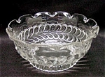Eapg: Adams & Co.: Plume Round Bowl Scalloped Top Mint