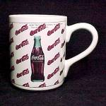 1997 Coca Cola Coke Bottle Coffee Mug Cup Advertising Porcelain China