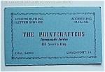 Vintage Davenport Iowa Ia Ink Blotter - Printcrafters