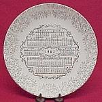 1962 China Calendar Plate Gold Gilt Floral Vintage