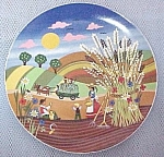 Autumn Wheat Harvest Plate Farm Scene B Furstenhifer
