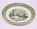Old Homestead In Winter Pie Plate Currier & Ives Royal