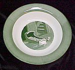 Colonial Homestead Flat Soup Bowl Royal China W/cradle