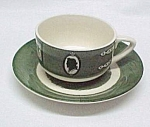 Colonial Homestead Cup & Saucer 1950s Royal China Dinnerware