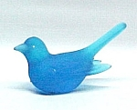 Westmoreland Blue Mist Bird Glass Figurine Paperweight Miniature