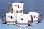 Siesta Ware Card Suit Set Of 4 Cup Cups Coffee Mugs Mug