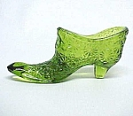 Daisy & Button Green Glass Bow Slipper Shoe Kanawha