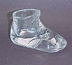 Crystal Clear Glass Baby Shoe Bootie Toothpick Holder