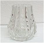 J D Bergen Cut Glass Toothpick Holder Prisms Zipper Vintage