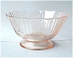 American Sweetheart Pink Ftd Sherbet Depression Glass