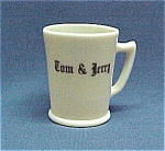Mckee Custard Tom & Jerry Mug W/ Black Punch Set