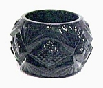 Black Glass Pineapple Open Salt Dip Cellar Diamond Fan