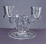 Heisey Lariat Double Candle Holder Depression Glass