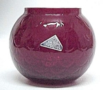 Morgantown Glass Peacock Optic Ruby Red Flower Bowl Tag