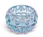 Lt Blue Carnival Glass Thumbprint Open Salt Dip Cellar