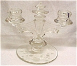 Tiffin Duo Candle Holder Stick Elegant Depression Glass