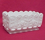 Westmoreland Paneled Grape Window Bx Planter Milk Glass